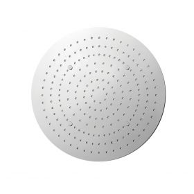 Just Taps Aquamist round ceiling mounted overhead shower with mist function, 380mm