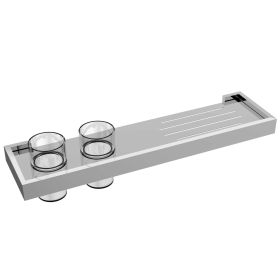 Just Taps Athena twin tumbler holder with shelf