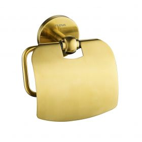 Flova Coco toilet roll holder – Brushed Brass