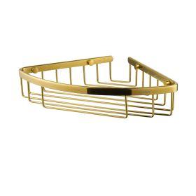 Flova Levo 205mm corner rack – Brushed Brass