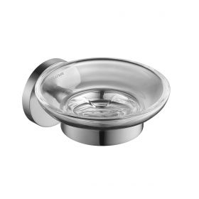 Flova Coco glass soap dish – Brushed Nickel