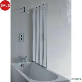 Britton Cleargreen Four Folding Panel Bath Screen - 885 x 1450mm