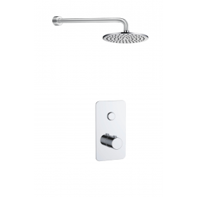 Just Taps Hugo 1 Outlet Touch Thermostat with Overhead Shower