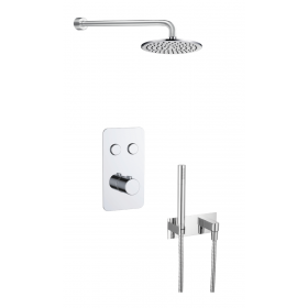 Just Taps Hugo 2 Outlet Touch Thermostat with Handshower and Overhead Shower