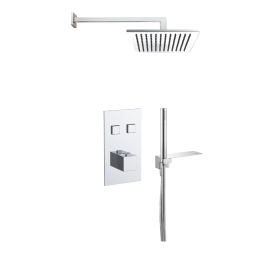 Just Taps Athena 2 Outlet Touch Thermostat with Overhead Shower & Handshower