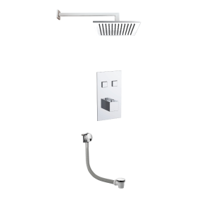 Just Taps Athena 2 Outlet Touch Thermostat with Overhead Shower & Bath Filler