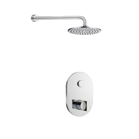Just Taps Leo 1 Outlet Touch Thermostat with Overhead Shower
