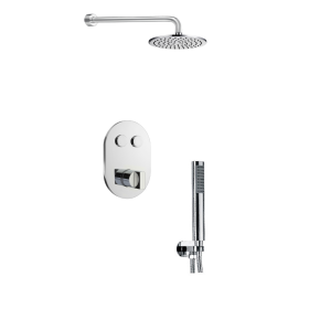 Just Taps Leo 2 Outlet Touch Thermostat with Overhead & Hand Shower