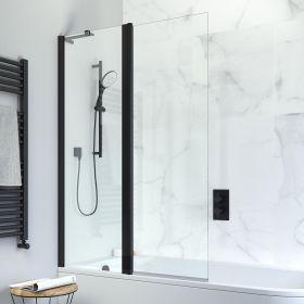 Crosswater Design+ Matt Black Double Bath Screen
