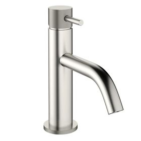 Crosswater MPRO Basin Mixer Tap with Knurled Detailing - Brushed Stainless Steel