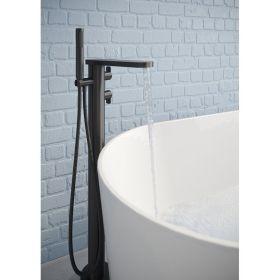 Crosswater Wisp Matt Black Floor Standing Bath Shower Mixer with Kit