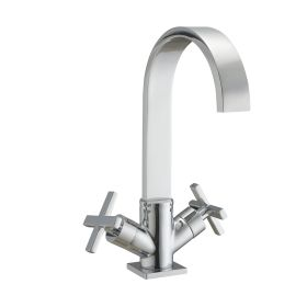 Just Taps Plus Detail Mono Basin Mixer With Click Clack Waste