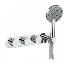 Crosswater Dial Bath Valve with Central Trim and Ethos Handset