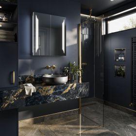 HIB Dimension Bathroom LED Cabinets 60cm x 70cm x 14cm