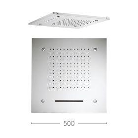 Crosswater Square Multifunction Recessed 500mm Showerhead