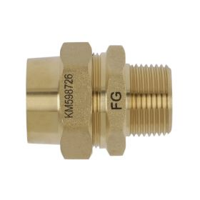"FlexiGas 15 mm X 1/2"" Male Straight Connector"