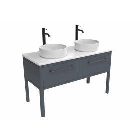 Saneux FRONTIER 120cm 2 Drawer Floor-Standing Unit – Matte Fiord