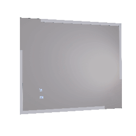 Just Taps Mirror with touch switch and demister pad 500mm