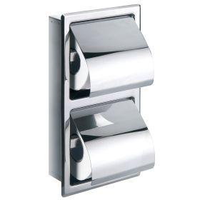 Flova Gloria double concealed toilet roil holder