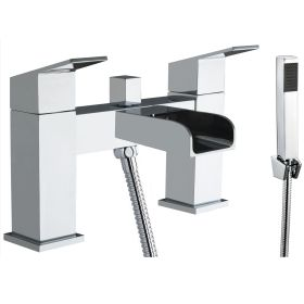 Just Taps Plus Gleam Deck Mounted Bath Shower Mixer With Kit