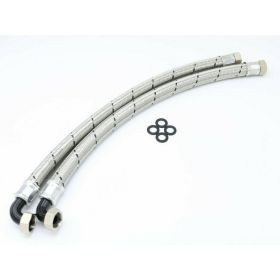 Monarch Steel Braided 22mm 3/4in High Flow Max Flo Installation Hoses for Water Softeners on Hi-flo Systems