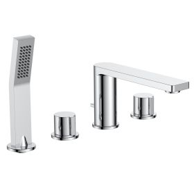 Just Taps Hugo 4 Hole Bath Shower Mixer With Kit