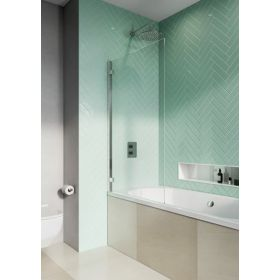 Crosswater Infinity 8 Single Panel Polished Stainless Steel