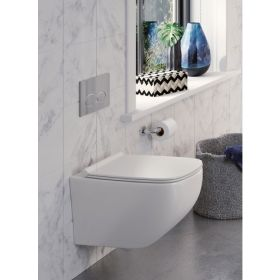 Crosswater Infinity Rimless Wall Hung Toilet & Soft Close Seat