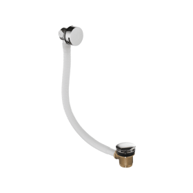 Just Taps Chrome Exofil Slim Overflow Bath Filler with Click Clack Waste