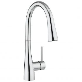 Crosswater Cucina Cook Side Lever Sink Mixer Tap With Dual Function Spray – Chrome