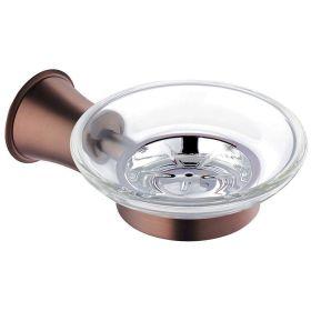 Flova Liberty glass soap dish – Oil Rubbed Bronze