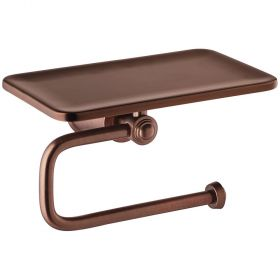 Flova Liberty toilet roll holder with shelf – Oil Rubbed Bronze