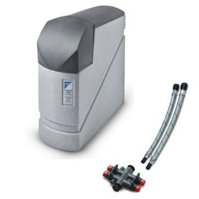 Monarch PlumbSoft Solo Ultra Non Electric Compact Water Softener-Twin Tank