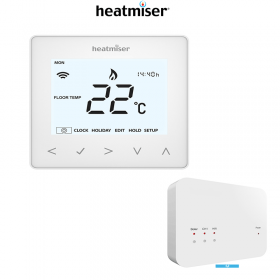 Heatmiser neoAir Smart Thermostat - Glacier White + RF-Switch - Two Channel Receiver