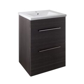 Just Taps Pace 600 Floor Mounted Unit with Drawers and Basin – Black