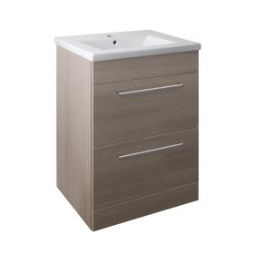 Just Taps Pace 600 Floor Mounted Unit with Drawers and Basin – Grey