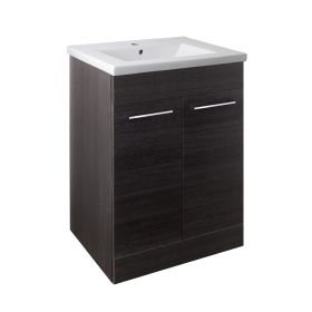 Just Taps Pace 600 Floor Mounted Unit with Doors and Basin – Black
