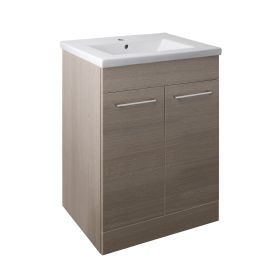 Just Taps Pace 600 Floor Mounted Unit with Doors and Basin – Grey