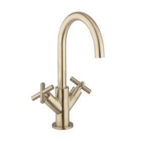 Crosswater MPRO Crosshead Basin Monobloc Brushed Brass