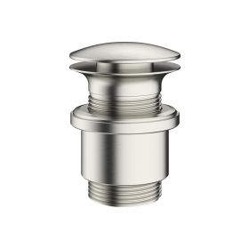Crosswater MPRO Basin Waste - Unslotted - Brushed Stainless Steel
