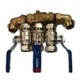 Water Softener 22mm Pressurised Valves