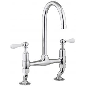 Crosswater Cucina Belgravia Dual Lever Kitchen Sink Mixer Tap – Chrome