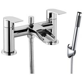 Just Taps Plus Ravina Deck Mounted Bath Shower Mixer With Kit