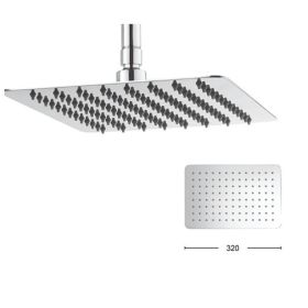 Crosswater Square Glide Rectangle 300mm Shower Head