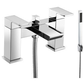 Just Taps Plus Lava Deck Mounted Bath Shower Mixer With Kit