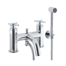 Crosswater Totti Deck Mounted Bath Shower Mixer with Kit