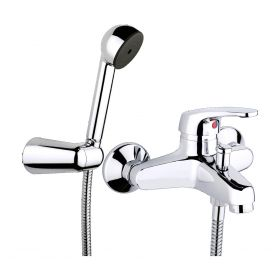 Just Taps Topmix wall mounted bath shower mixer with kit