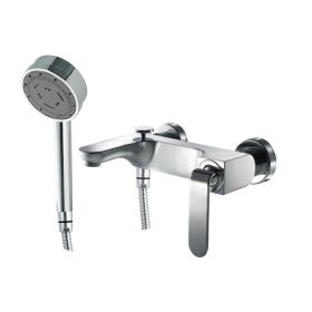 Just Taps Vue Single Lever Wall Mounted Bath Shower Mixer With Kit