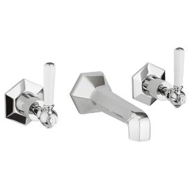 Crosswater Waldorf White Lever Wall Mounted Bath Filler