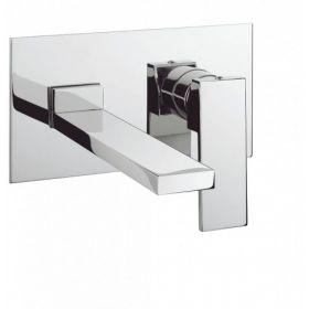 Crosswater Zion Wall Mounted Basin 2-Hole Set with Backplate